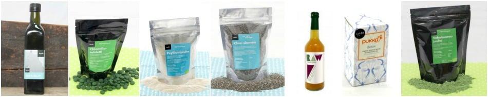 Detox-puhdistuskuuri ja tuotepaketti